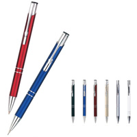 Pena ou lápis de alumínio de esfera do metal de Retracable
