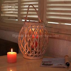 Personalizados de Alta Qualidade Antique Travando Lanterna de Madeira com Pega