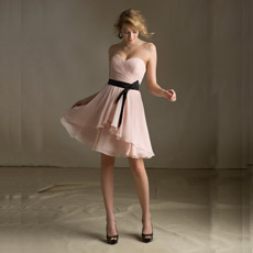 2013 Strapless Champagne Mini Best Bridesmaid Dress (B1130-001883)