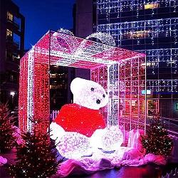 Pinhões Style Natal decoração pendurar Motif String LED Light