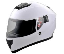2017 Mais Novo Capacete de Motocicleta Bluetooth ABS Branco para Pilotos