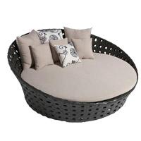 Daybed extérieur de meubles de rotin de lit de Sun