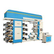 Máquina de impressão Flexographic da cor da alta qualidade para a película plástica de papel de rolo tecida não