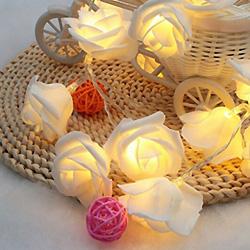 3 Mètres de Rose Fleur Fée de Batterie à LED Feux de Chaîne