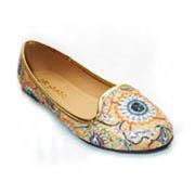 Tejido de la Moda Mujer zapatos de tacón plano bordar (A188101790)