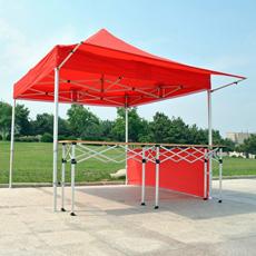 Evento de plegado de la Glorieta Rojo Tienda emergente para la venta