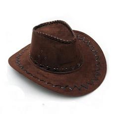 Vaquero de cuero falso Sombrero