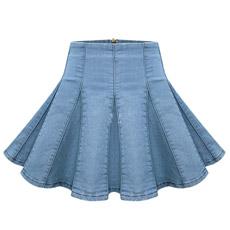 Jean Damas mini falda plisada (JC2044)