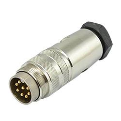 IP67 M16/M12/M23/M8 Resistente al Agua Circular de Metal Cable Conector de Alimentación