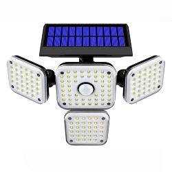Luz sin Hilos al Aire Libre Solar de la Pared del Jardín de la Seguridad del Sensor de Movimiento del Radar de Microonda de la Luz 48 LED