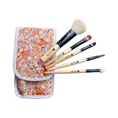 Composição Brush Flower Pouch Gift Set Travel /Portable Brush Set 5PCS (NP0531)
