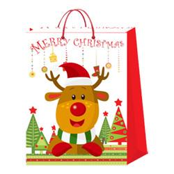 Venda Por Grosso de Presentes de Natal de Promoção Comercial de Embalagem de Saco de Papel do Transportador