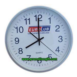 Promoción de 12 pulgadas de plástico de 30cm silencioso decorativo Reloj de pared de cuarzo