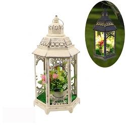 Décoration maison Bougie en verre coloré titulaire lanterne de tempête
