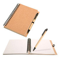 Custom Hot Selling Spiral Paper Notebook com caneta (SNB127)