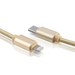 Cargador rápido de teléfono móvil USB cable de datos de rayo con el tipo de salida-C