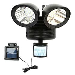 Gemelo solar sensor de movimiento de la luz de seguridad (RS2009W)