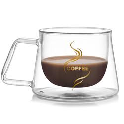 200ml caneca de vidro de parede dupla chávena de café