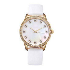 Кварцевые часы с натуральной кожи леди смотреть