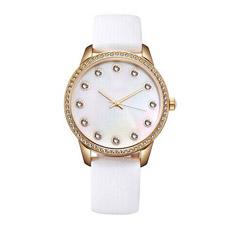 Reloj de cuarzo con cuero genuino Dama ver