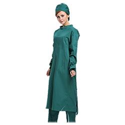 Verde Escuro vestido cirúrgica de algodão reutilizáveis