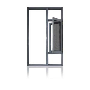 Feelingtop Thermal Break janelas de giro de alumínio com rede mosquiteira