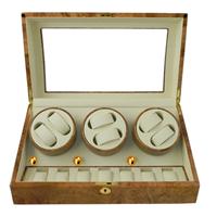 Diseño al por mayor de 3 rotador Mira enrollador para 6 + 7 relojes