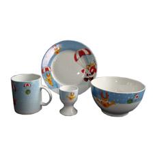 Рождественский ужин из фарфора, керамическая посуда