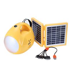 LED Lámpara Linterna de Lectura de Lectura, Mano, Escritorio de Energía Solar con Cargador Móvil y Radio FM