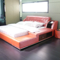 2014 Hot Sale kingsize, lit Queen Size lit en cuir 661#