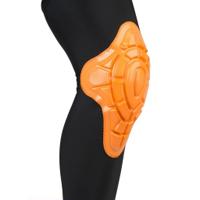Alta compresión transpirable manga de la rodilla con almohadilla de silicona