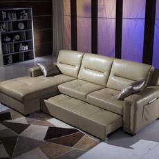 Canapé-lit fonctionnelle en cuir (S636#)