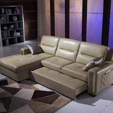 Lit de sofa fonctionnel en cuir (S636#)