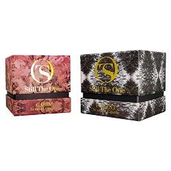 Dom Saco de Natal Santa Cláusula de Sacos de Papel com Plena Cintilantes