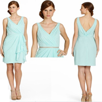 Deep Green Strapless Bridesmaid Dresses 2013 (XZ126)