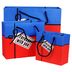 Rosa Personalizada Amor Dom Papel Bag Sacola de Compras de Papel