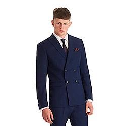 Slim Fit Habit croisé de drap bleu Pant costume pour les hommes