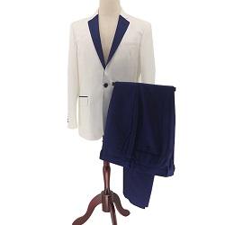 La solide Xiaolv88 hommes Slim Fit Veste Blazer en velours côtelé à deux boutons enduire seul poitrine costume élégant dîner d'affaires décontractée