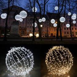 3D bola motivo decorativo Natal luz de LED
