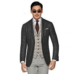 Les hommes modernes du costume Slim Fit Blazer