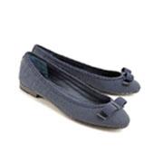 Señora plana Shoe (20140327-09) de las bailarinas de la PU de Solft de la comodidad