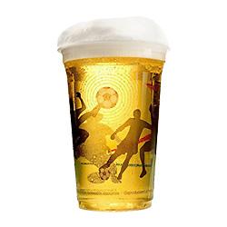 Cerveja Worldcup clara de plástico PET para bebidas frias