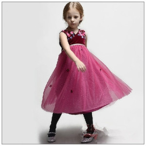 Floor Length Multi-Layered Skirt with Twin Straps Flower Girl Dress (FD07)