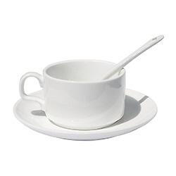 Caneca de chá de porcelana cerâmica clássica de café da manhã