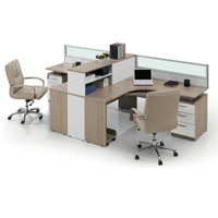 L Shape Wood Panel Staff Table Bureau Station de travail Partition