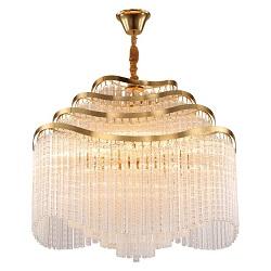 Níquel Brillante Lámpara de Araña de la Cadena de Imperio Chantilly