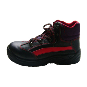Black Steel Toe Cap Leather Safety Shoes Abp1-8069