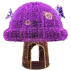 Nuevo Diseño de la Luz de Motif Polo de la Calle de la Navidad con Santa Decoración Iluminado