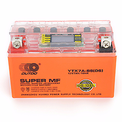 Gel Écran LCD sans Entretien 12n7b-BS 12V7ah Batterie Moto