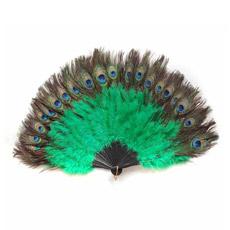 Hpff013 coloridas plumas de pavo real divertido